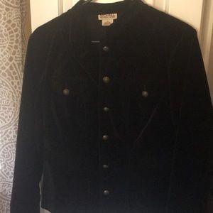 Michael kors black velvet coat.